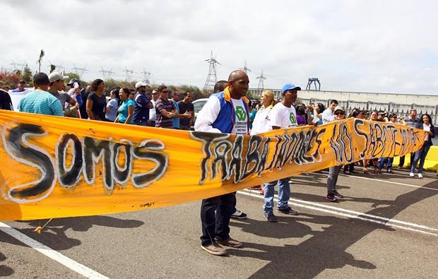 Empleados de Corpoelec protestan para exigir aumentos