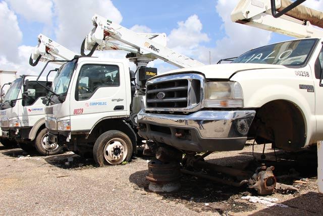 92% de los camiones de Corpoelec Carabobo está accidentado