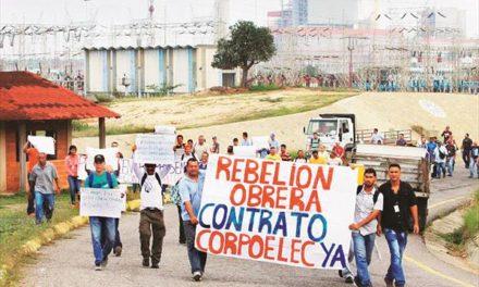 Trabajadores de Planta Centro protestaron para exigir firma del contrato colectivo