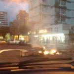 Protestas en la avenida Bolívar Norte por apagón de 15 horas