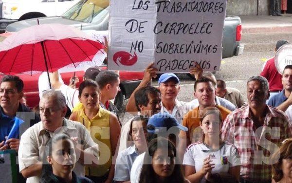 Trabajadores de Corpoelec Táchira iniciaron jornada de protesta continua