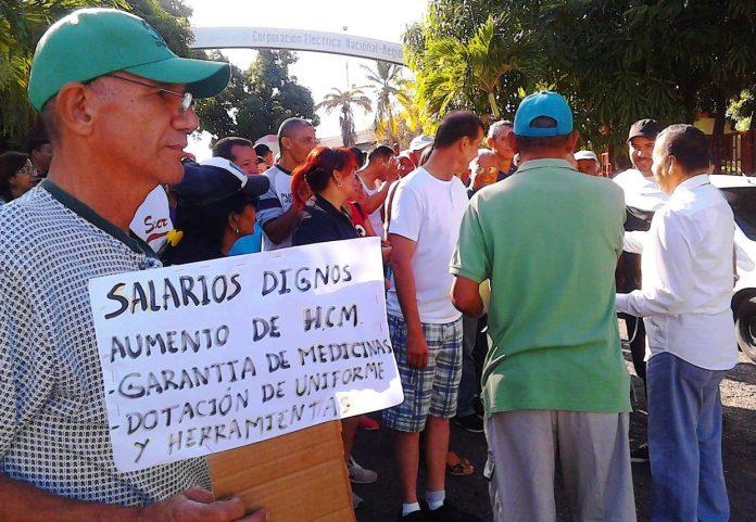 Trabajadores de Corpoelec en Sucre exigen aumento del salario